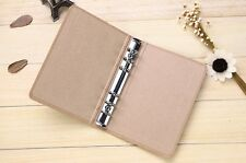 New A6 Kraft Paper Cover 6 Hole Binder Folder File For Journal Note Book Diary