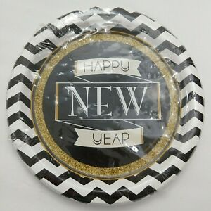 New years eve Creative Converting 8 Count Paper Plates 8.75 Midnight Celebration