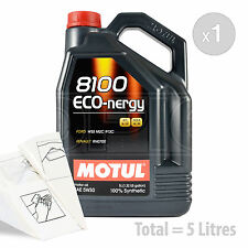 Car Engine Oil Service Kit / Pack 5 LITRES Motul 8100 Eco-nergy 5W-30 5L