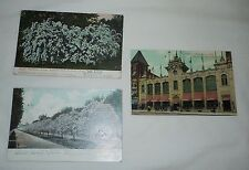 set/3 Vintage Rochester NY Early Postcards 2-UDV & 1-DV Postally Used 1907