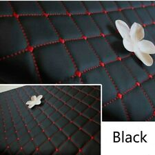 Thick PU Leather Fabric Embroidered Sponge Quilted Car Interior Crafts Material