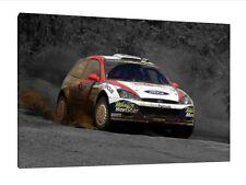 30x20 pollici Canvas-Colin McRae Rally WRC FORD FOCUS poster foto incorniciata