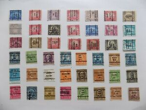 U S   Collection of all used PRECANCEL DEFINITIVES -7-29-H-We combine shipping