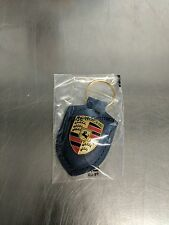 OEM Genuine Porsche Blue Crest Leather Key Ring WAP0500950E