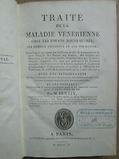 BERTIN : TRAITE DE LA MALADIE VENERIENNE CHEZ LES ENFANS, 1810. 2 tableaux dépl.