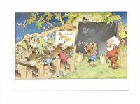 AK, Künstlerkarte von Fritz Baumgarten, Zwerg als Lehrer, Vögel, Insekten, Tafel