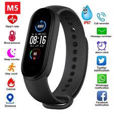 M5 Smart Band Watch Bracelet Heart Rate Fitness Tracker Wristband Waterproof M5