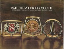 Chrysler Plymouth 1976 Export Markets Brochure New Yorker Cordoba Fury Valiant