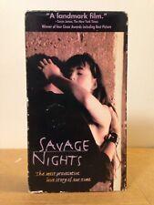 Savage Nights VHS Gay Interest French AIDS Drama Polygram