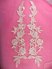 """Embroidered Appliques Peach Mirror Pair Floral 13"""" (GB458X-pch)"""