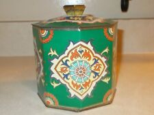 Vintage Revlon Moon Drops Octagon shaped Tin Canister w/ Fitted Lid