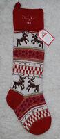 Pottery Barn Kids Christmas Stocking Wool Blend Classic Fair Isle dad Shark Deer