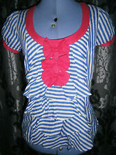 Next Striped Semi Fitted Short Sleeve Women's Tops & Shirts