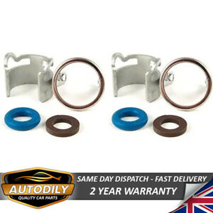 2pcs Fuel Injector Seal Repair Kit 06E998907G O ring Clamp