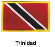 """TRINIDAD FLAG EMBROIDERED PATCH - IRON-ON - NEW 2.5 x 3.5"""" FREE SHIPPING"""