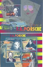 362° Ferdinand Alexander Porsche ° 2 Briefmarkenblöcke aus GUINE-BISSAU...