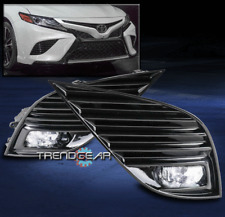 FOR 2018-2019 TOYOTA CAMRY SE XSE BUMPER CHROME LED FOG LIGHT KIT W/BEZEL+SWITCH