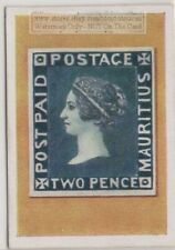 1930s Trade Ad Card - 1848 Mauritius Post Paid 2 Pence Postage Stamp