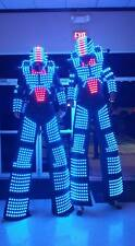 LED Robot Suit Costume Leds Party Show Glow Night Lights