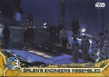 Star Wars Rogue One Series 2 Gold Base Card #32 Galen's Engineers Assembled
