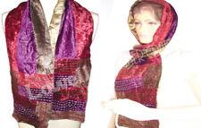 3 color tone Velvet Scarf Shawl Wrap Burnout Silk Winter Warm Infinity