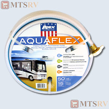 "Apex Aquaflex 50' x 1/2"" RV & Marine Reinforced Water Hose - Camper Trailer NEW"