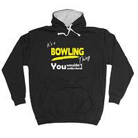 ITS A BOWLING THING HOODIE lawn bowls club ten pin hoody funny birthday gift