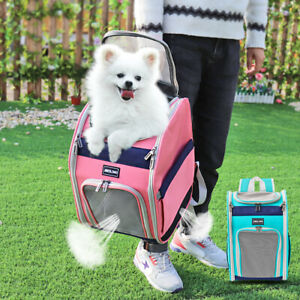 Pet Carrier Dog Backpack Traveling Portable Large Cat Bag Tote Mesh Window