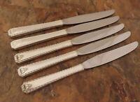 Oneida Bordeaux 5 Dinner Knives Prestige Vintage Silverplate Flatware Lot B