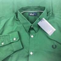 Brand New! Fred Perry Mens XL Tartan Green Button Down Shirt Long Sleeve