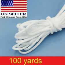 100 yard 3mm Round Elastic Band Rope Cord Ear Hanging Tape Sewing For Face Masks