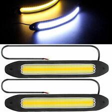 2X 12V LED COB Car DRL Fog Driving Daytime Running Lamp Turn Light Waterproof EN