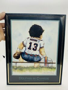 8 x 10 Dolphin In Charge Dan Marino Picture Frame Signed By Kenneth Gatewood 96'