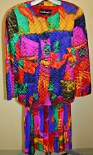 LOUIS FERAUD FRENCH DESIGNER JACKET, TANK AND SKIRT MULTI-COLORED SIZE 4 US