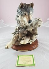MILL CREEK STUDIOS WOLF STATUE SIX PAWS RANDY READING LIMITED EDT COA