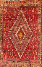 "Geometric Tribal 4x8 Kashkoli Shiraz Persian Oriental Area Rug 7' 7"" x 4' 1"""