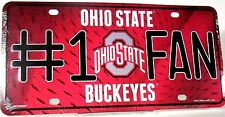 Novelty license plate NCAA Ohio State Buckeyes new aluminum auto tag made in USA