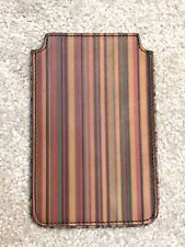 PAUL SMITH PHONE WALLET LEATHER CASE SIGNATURE STRIPE IPHONE NEW