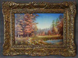 C Gregory Stapko 1968 Original Painting Autumn Fall Landscape