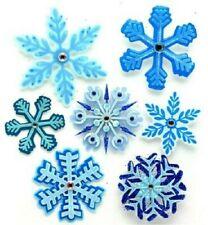 SNOW WINTER Snowflakes Flakes Blue Crystal Flake Jolee's Stickers Scrapbook