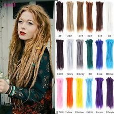 "10PCS 20"" Handmade Dreadlocks Extensions Synthetic Jamaican Dreads Braiding Locs"