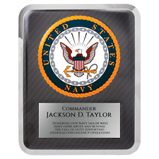 Navy Hero Plaque - Personalized