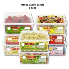 HARIBO 8 FULL TUBS OF SWEETS WHOLESALE DISCOUNT FAVOURS TREATS PARTY CANDY-KIDS