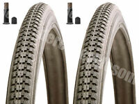 Two Raleigh Record 26 x 1 3 / 8 Classic Bicycle Bike Tyres & Tubes Dutch
