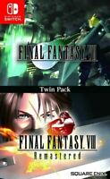 Final Fantasy VII & VIII Remastered Collection Nintendo Switch Twin Pack 7 & 8