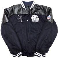 NFL DALLAS COWBOYS VINTAGE Football Sz XL Letterman Varsity Leather Jacket