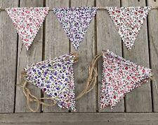 Bunting - Ditsy Floral Shabby Chic Rustic Party Decoration String & Fabric 6ft