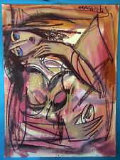 HRASARKOS  Tableau Peinture Mixte sur panneau 60 cm x 80 cm Ref 302762026104
