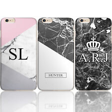 PERSONALISED MARBLE INITIALS HARD PHONE CASE FOR APPLE HUAWEI GOOGLE