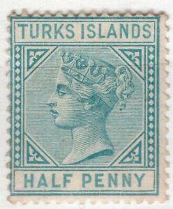 TURKS ISLANDS 1882/95 STAMP # Sc. # 48a MNG